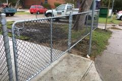 powder coated chain mesh gate