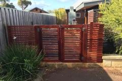 jarrah slat fence