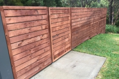 Hard Wood fence
