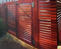 Jarrah slat gate