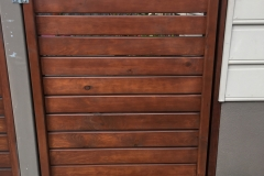 Stained pine gate