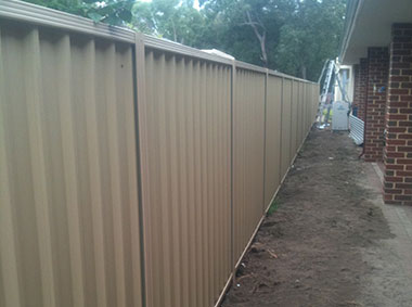 Colorbond Fencing by Bears Fencing near Dunsborough.