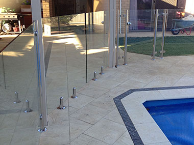 Glass Pool Fence by Bears Fencing near Dunsborough.