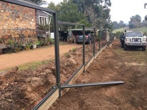 COLORBOND® fencing installation