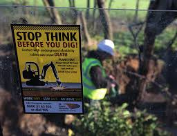think before you dig sign