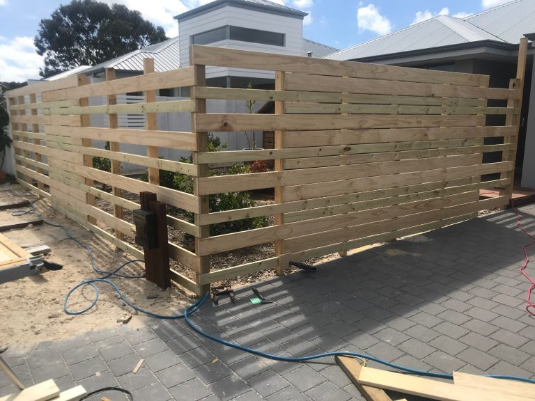 construction of Slatted Fencing & Gate