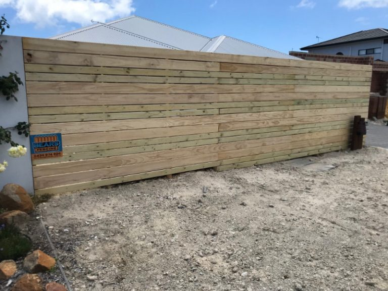 completed Slatted Fencing & Gate by bears fencing