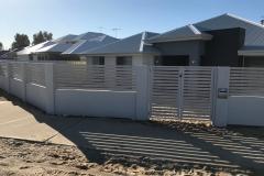 modular wall slat fence