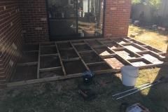 pine decking framework