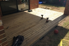 stained pine decking