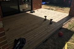 sanded pine deck
