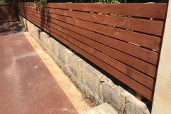 Decking style fence