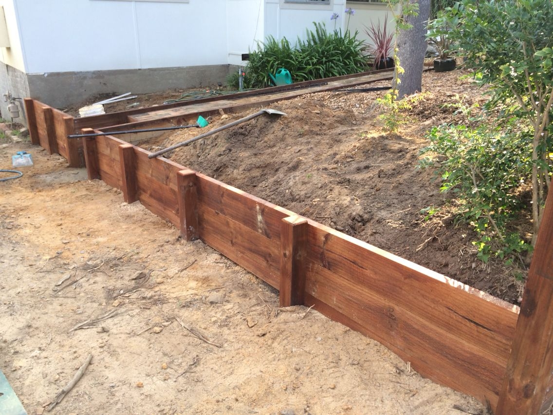 Jarrah Sleepers Perth Retaining Walls For Any Purpose