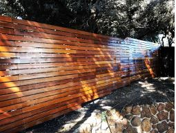 glossy wooden fence