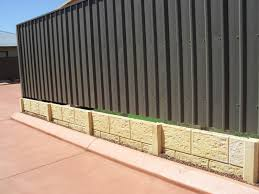 retained coloorbond fence